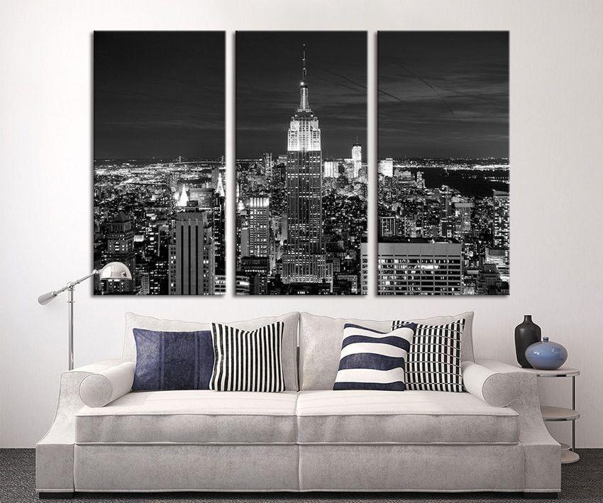 Oversize Art Canvas Print New York Skyline Manhattan Canvas Art New York Night Canvas Print Large Canvas Wall Art Canvas Art Prints Oversized Art