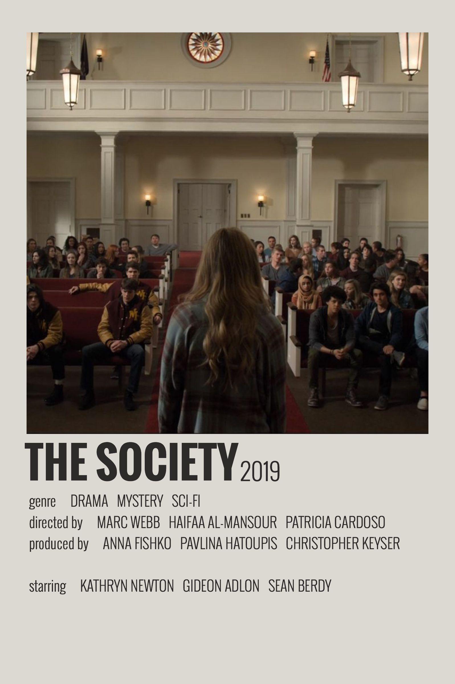 Alternative Minimalist Movie/Show Polaroid Poster - The Society