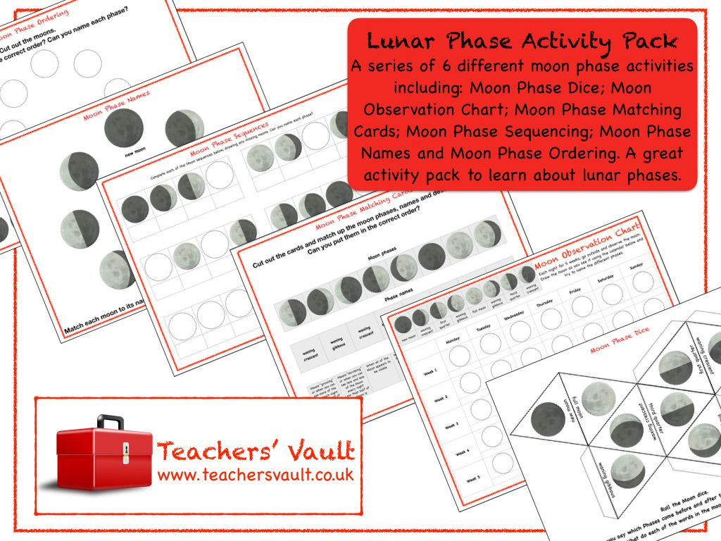 Lunar Phase Activity Pack Science