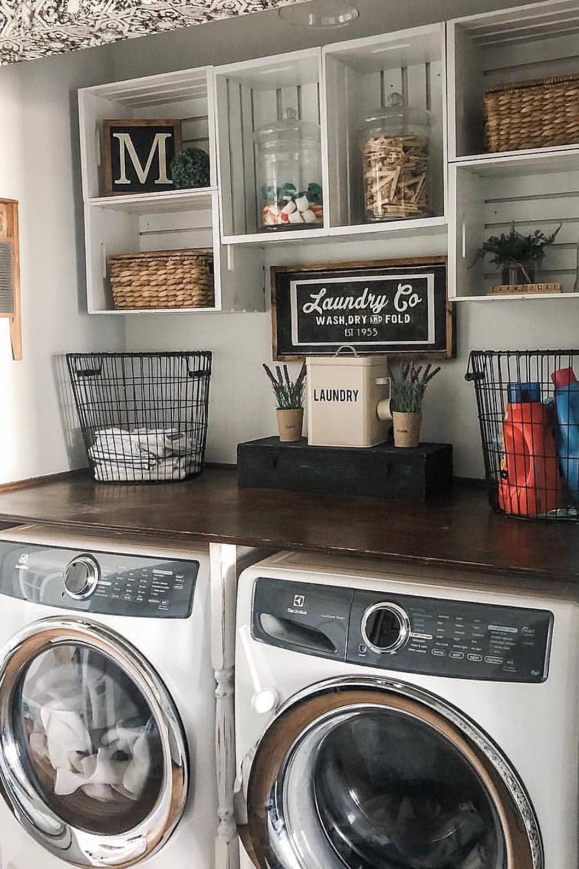 Smart Farmhouse Laundry Room Storage Organization Ideas   WEBVISIT ...