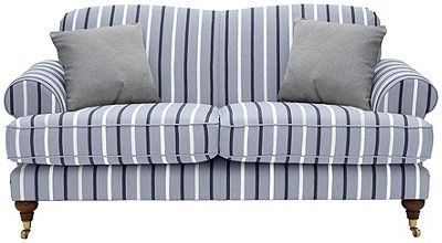 Buy Heart Of House Sherbourne Regular Fabric Sofa Grey Stripe At