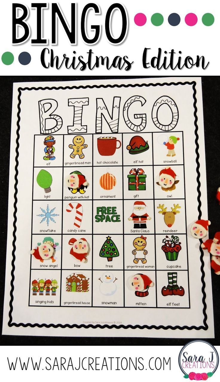 What are you teaching in December? Christmas bingo