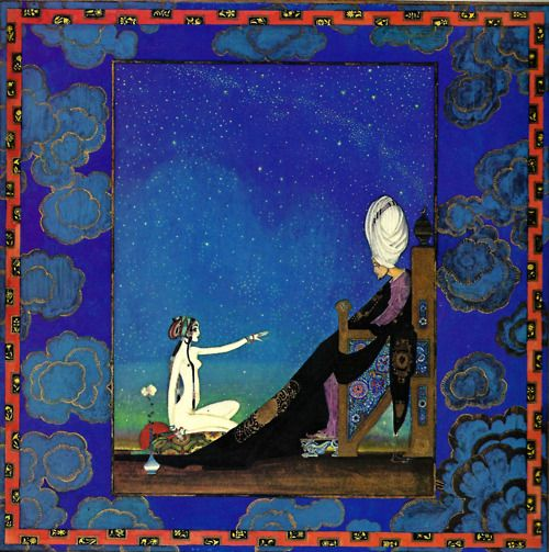 Sheherazade Telling Her Tale To The King -Kay Nielsen