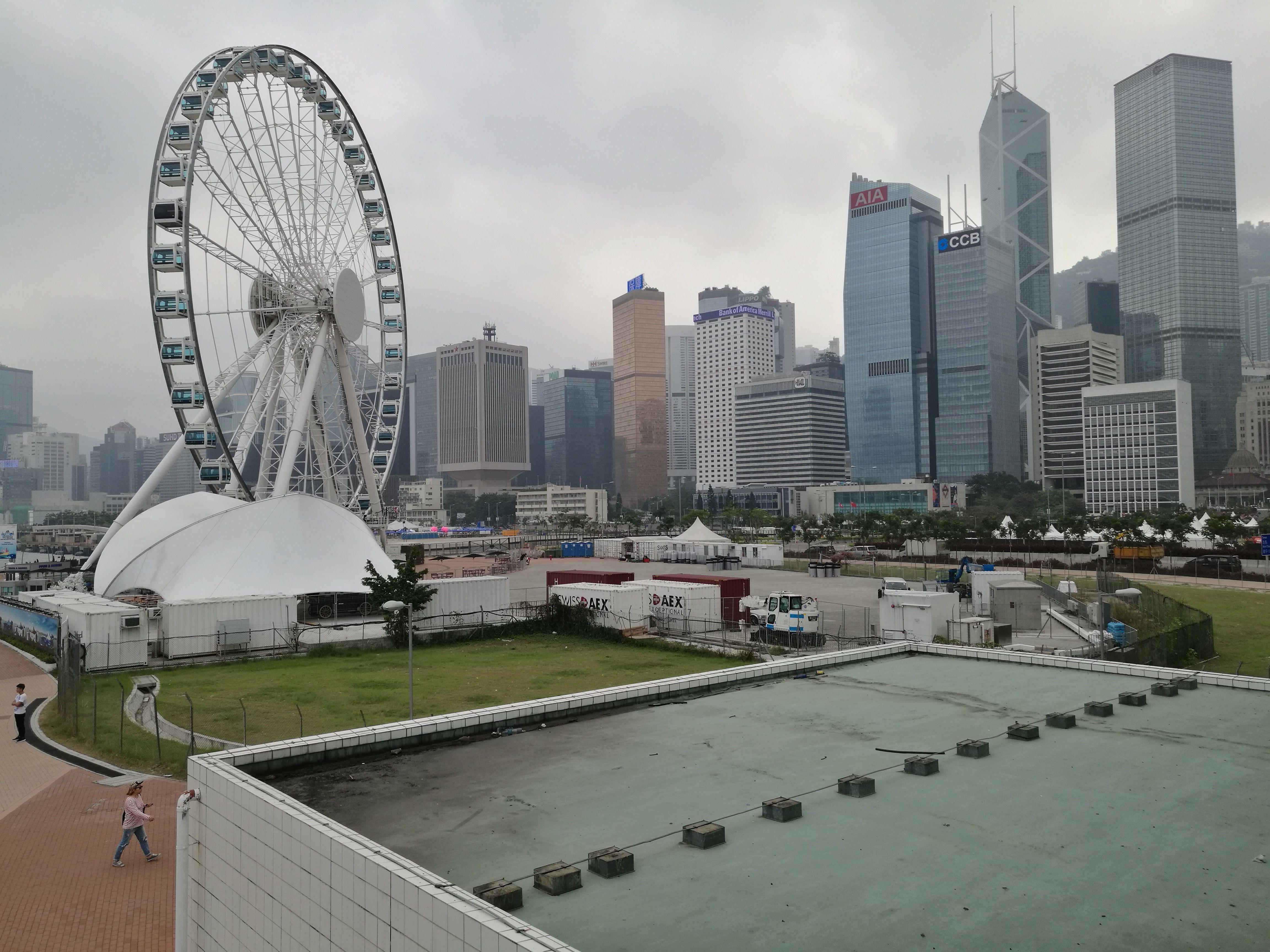 Llegando a la isla de Hong Kong