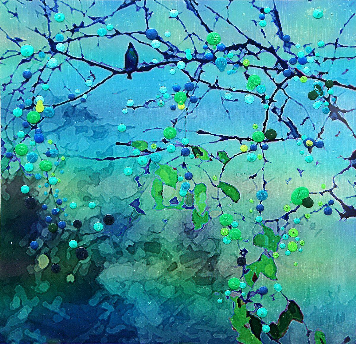 Bluebird - Morning Song - The promise of new beginnings.  Art work by Energy Artist Julia Watkins.
