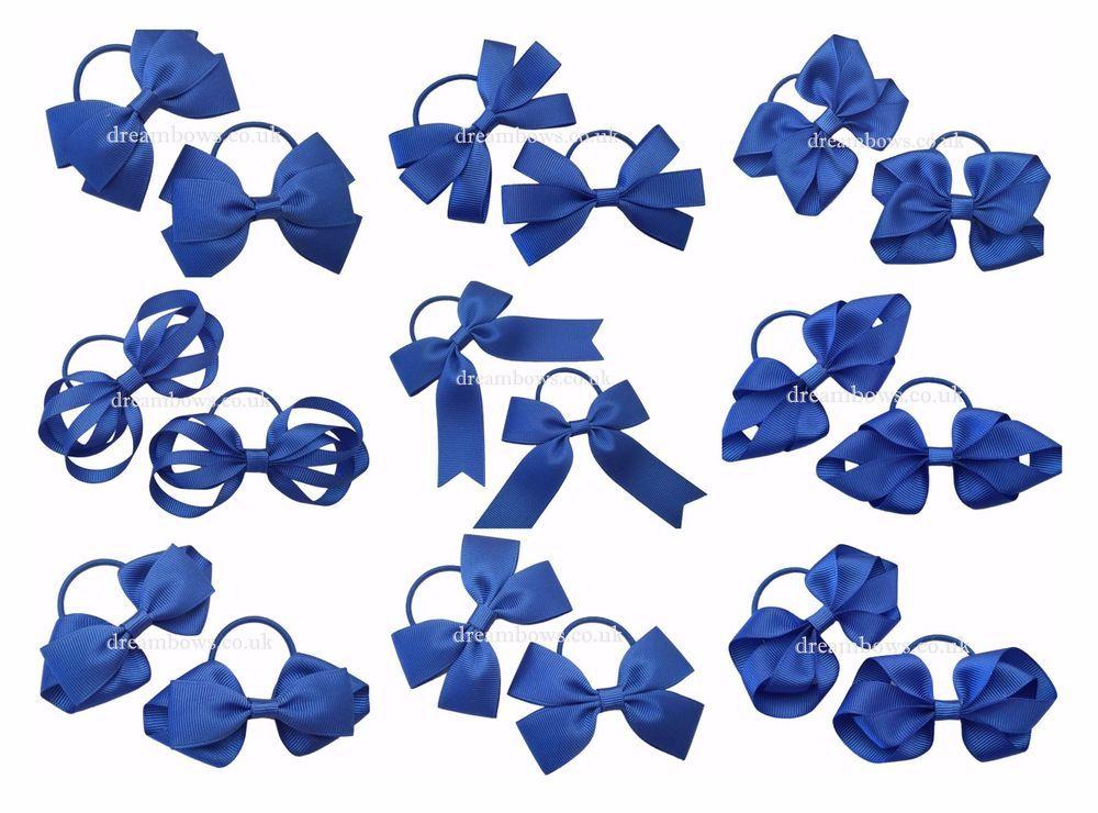 Royal blue toddler bows 220b34fd616