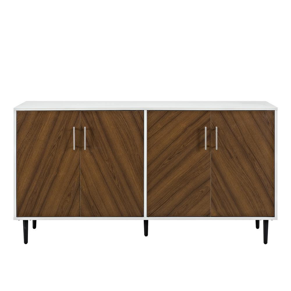 walker edison furniture company 58 in white teak brown modern rh pinterest es