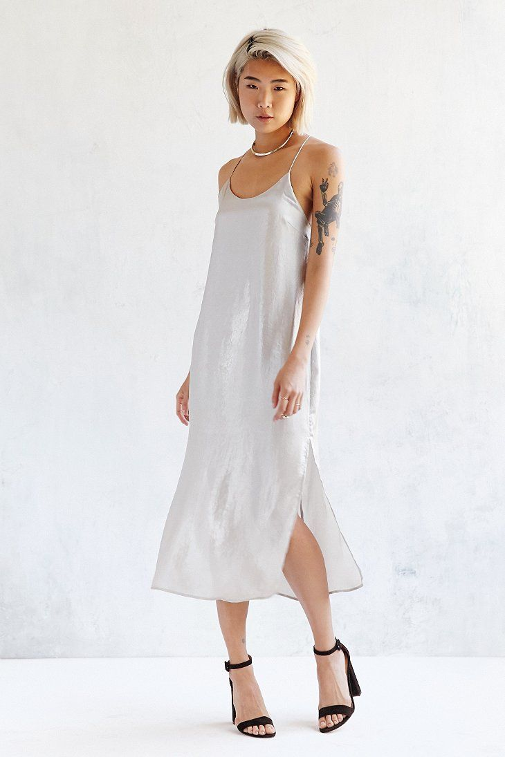 Silence Noise Sadie Satin Midi Slip Dress Stitch Fix