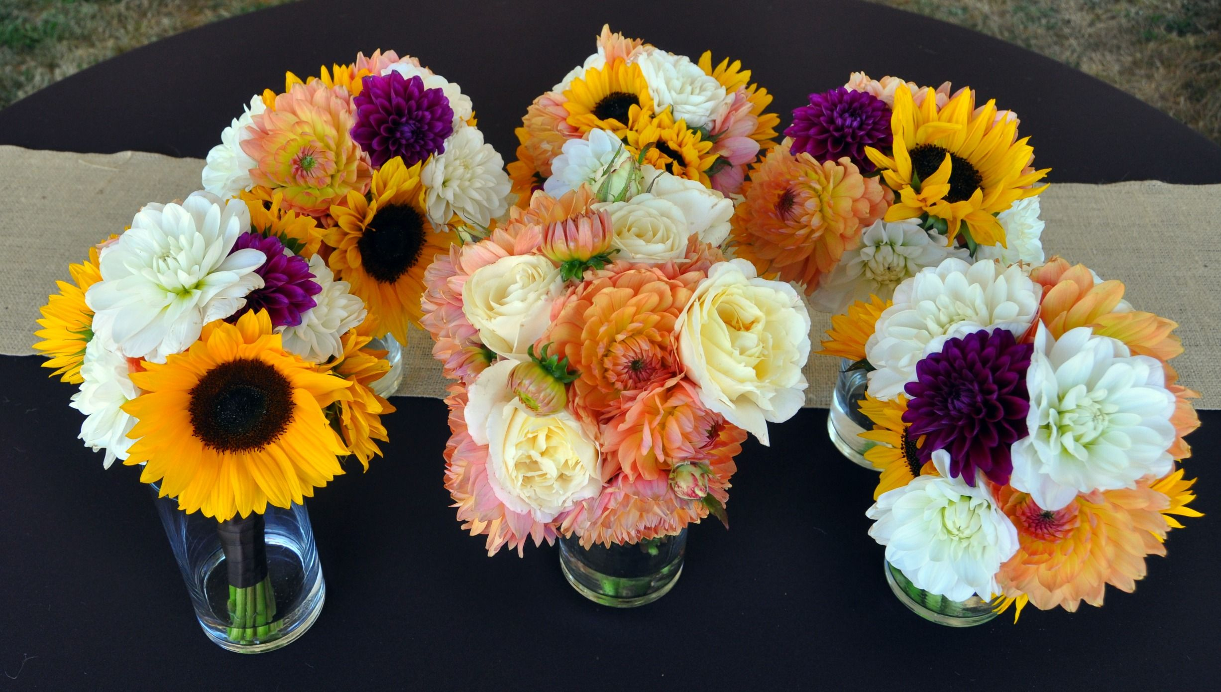 Love Garden Roses: Dahlias, Sunflower, And Peonies/garden Roses! Love The