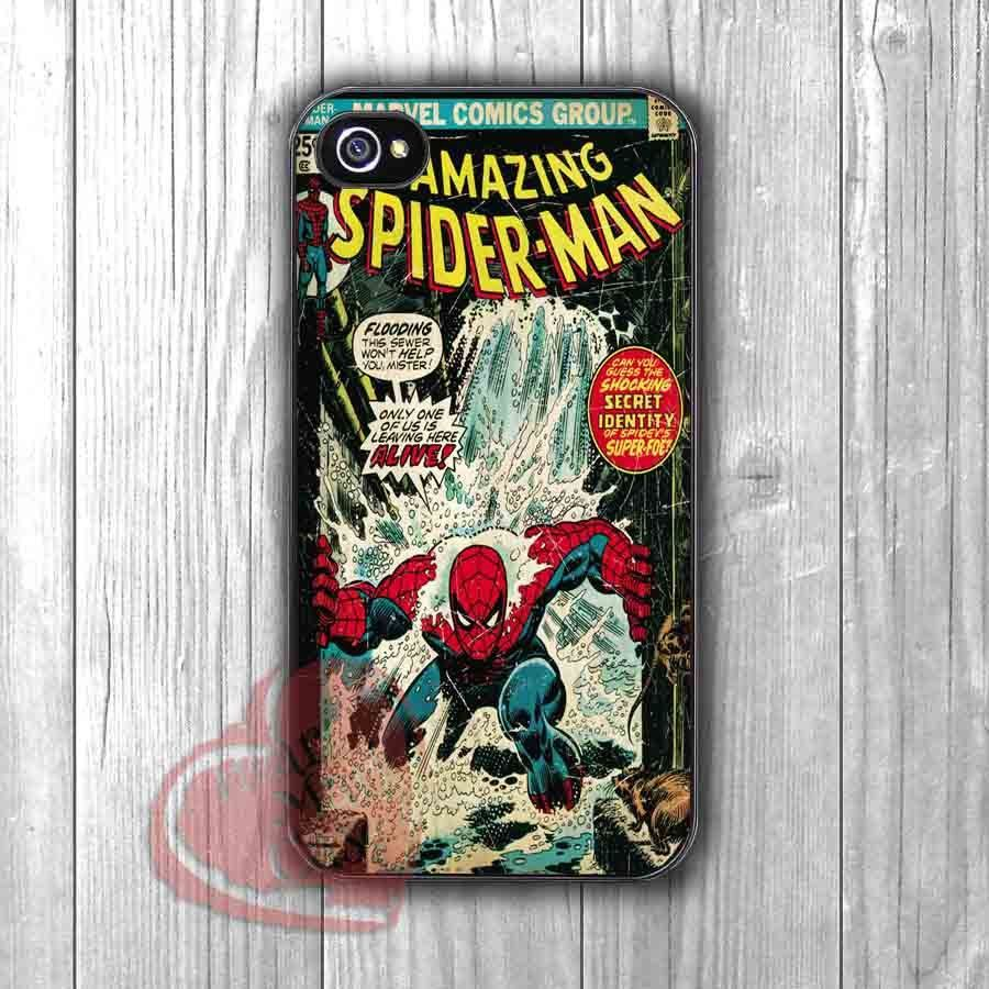 Amazing Spiderman Superhero comic retro cover case -Lxmi for iPhone 6S case, iPhone 5s case, iPhone 6 case, iPhone 4S, Samsung S6 Edge