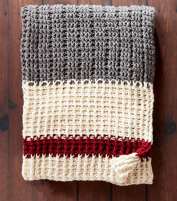 How To Make A Lumberjack Crochet Throw   Crochet Me!   Pinterest ...