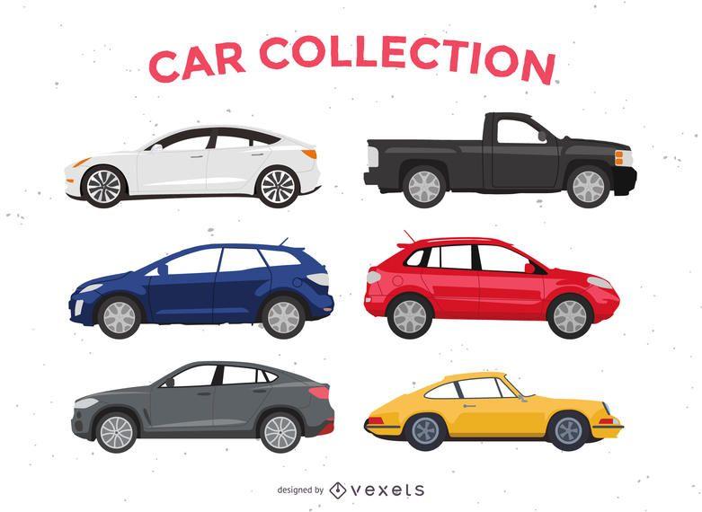 Flat Car Illustration Pack Ad Ad Aff Car Illustration