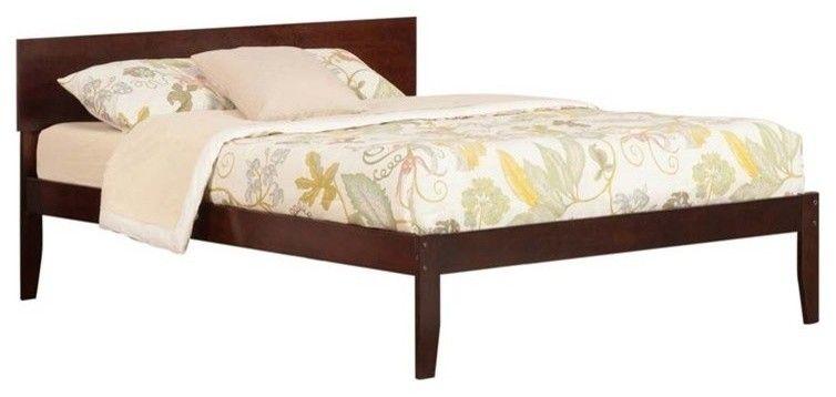 Atlantic Furniture Orlando Queen Panel Platform Bed Walnut