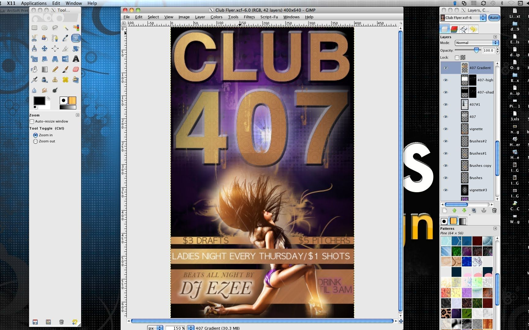 How To Make A Professional Flyer In Gimp Gimp Gimp Photo Editing Photoshop Tutorial