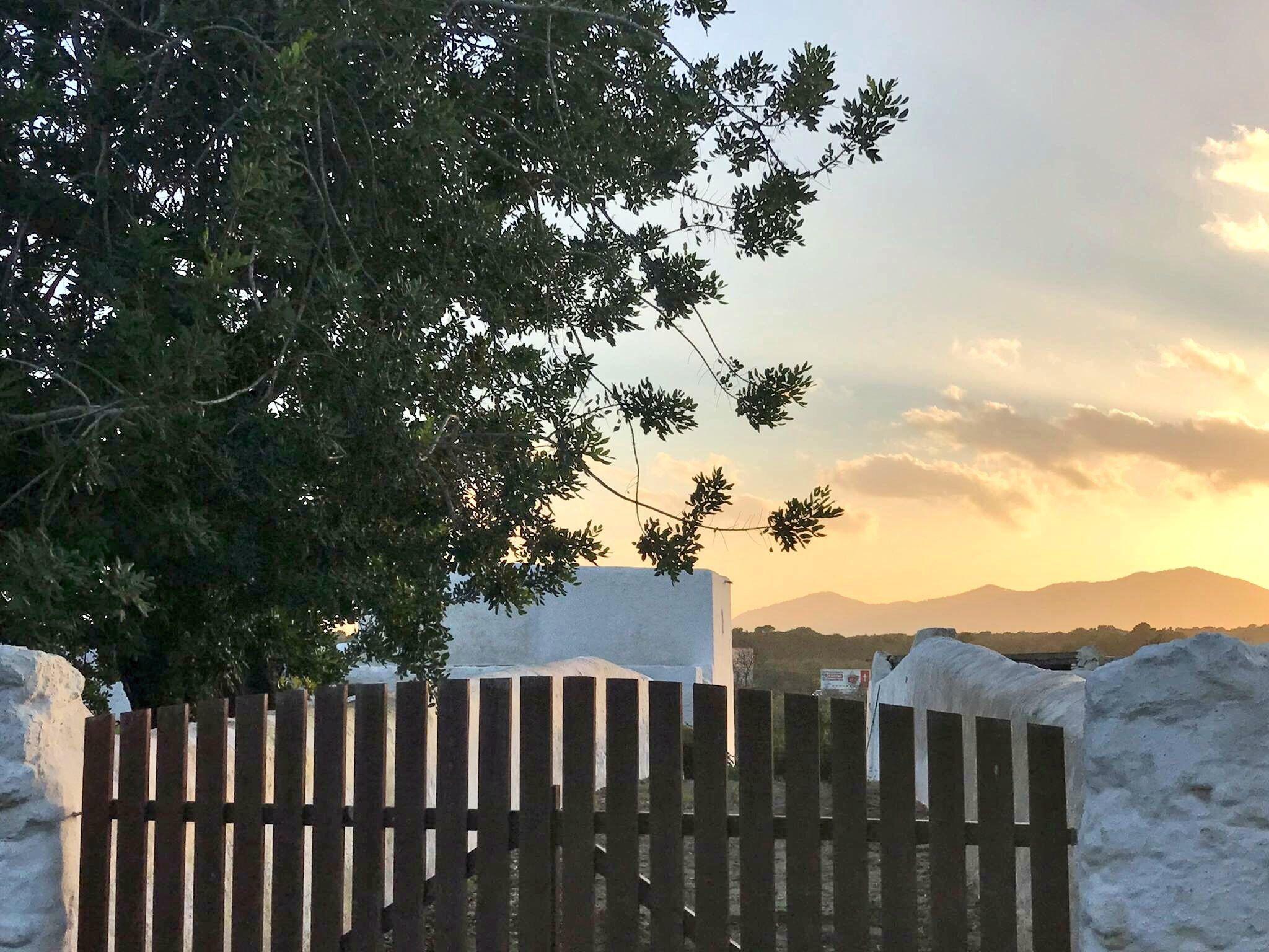 Puerta de entrada al atardecer en una preciosa casa en el interior de Ibiza. Feliz semana Door to the sunset in a beautiful Ibiza's countryside house. Happy week