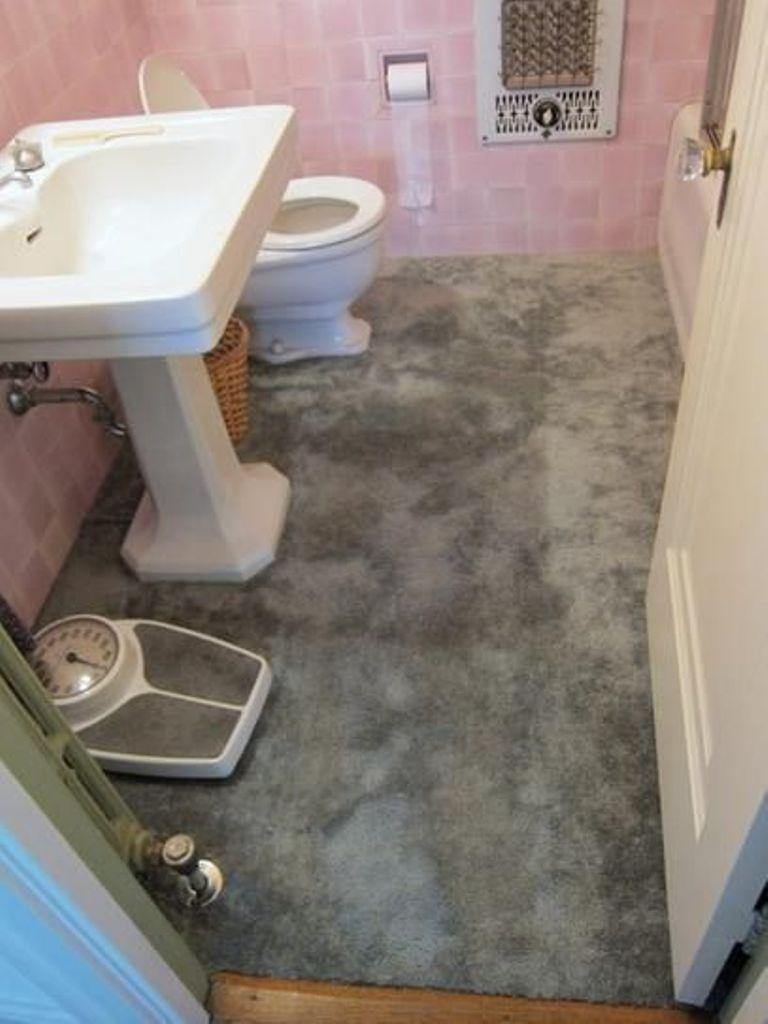 Sockel Badezimmer | Klassisches Sockel Waschbecken Mit Distressed Grau Bunte Bad