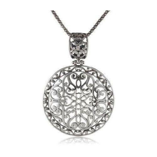 "Sterling Silver Bali-Inspired Filigree Pendant Necklace, 18"" #Pendant"