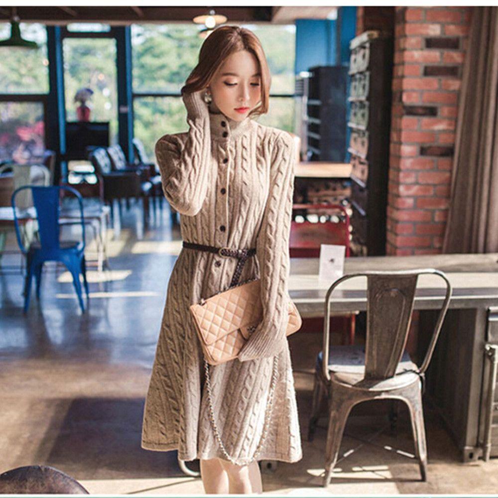 blusas femininas inverno women autumn and winter sweater dress ...