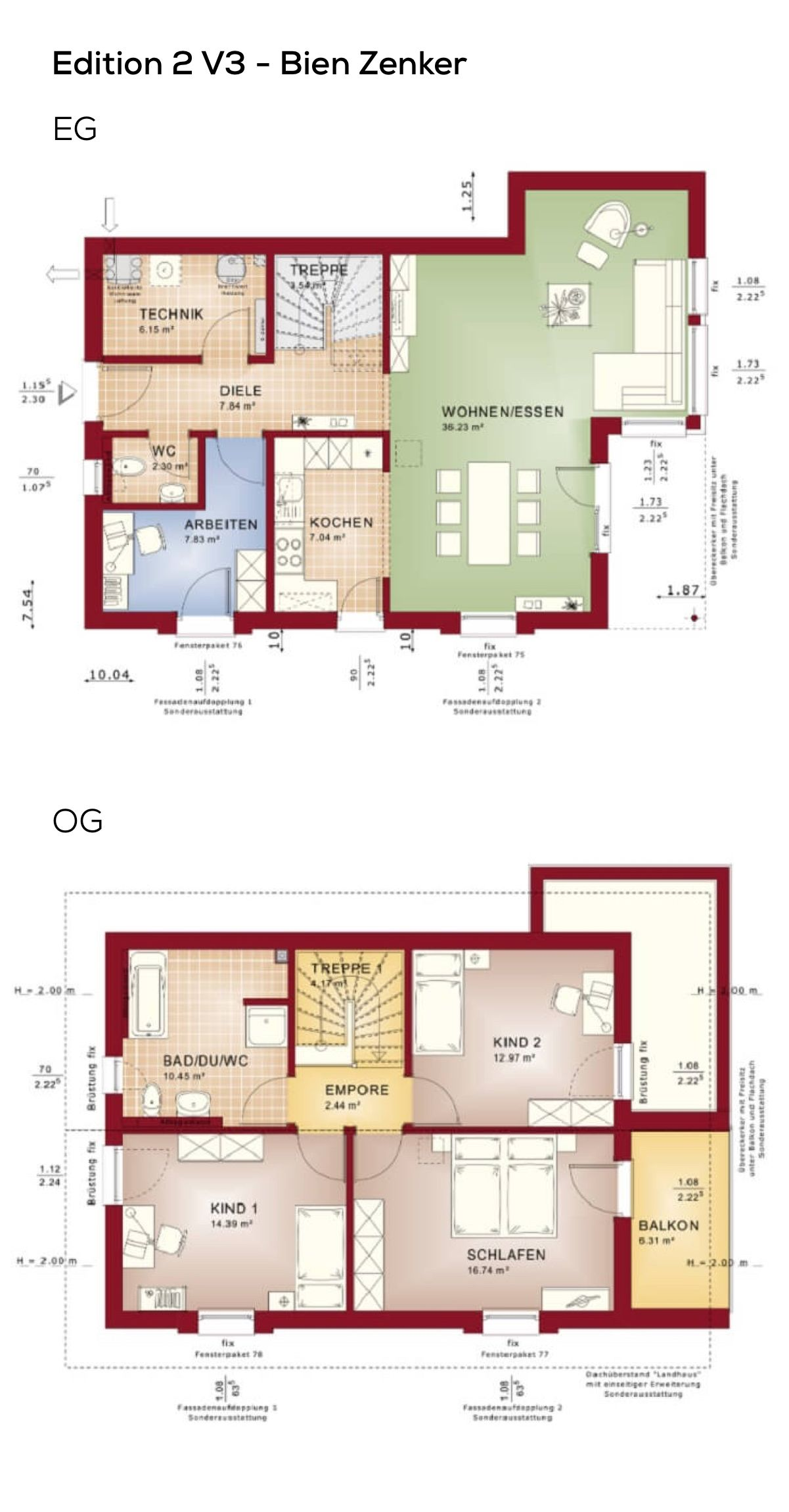 Einfamilienhaus grundriss modern mit satteldach erker for Zweifamilienhaus grundriss beispiele