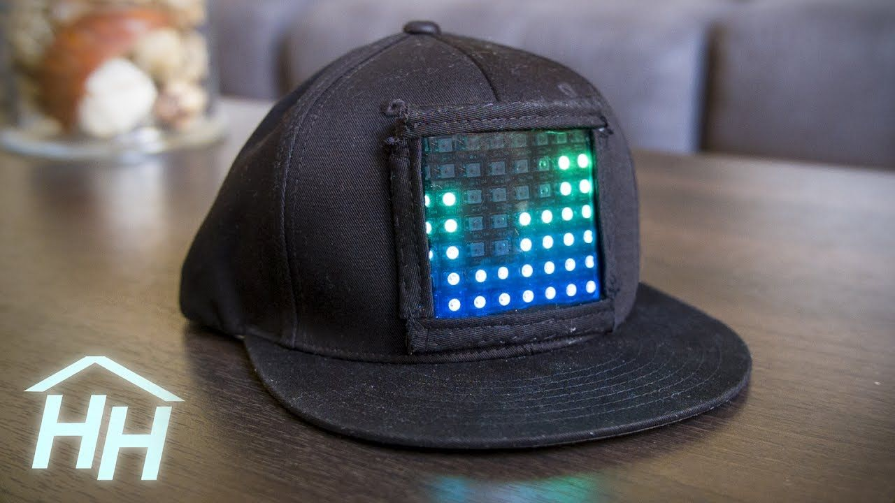 How To Make This Animatable Customizable Led Display Hat Handmade Crafts Howto Diy Led Diy Textiles Projects Led Mask