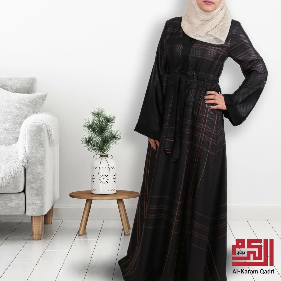 عباية من أفضل أنواع الأقمشة بزينها حزام من الوسط ليخفي بعض الوزن وتظهري بقامة مثالية مهما كان شكل جسمك Cold Shoulder Dress Dresses Fashion