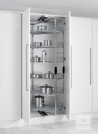 Kitchen Storage Solutions Rotating Pull Out Larder