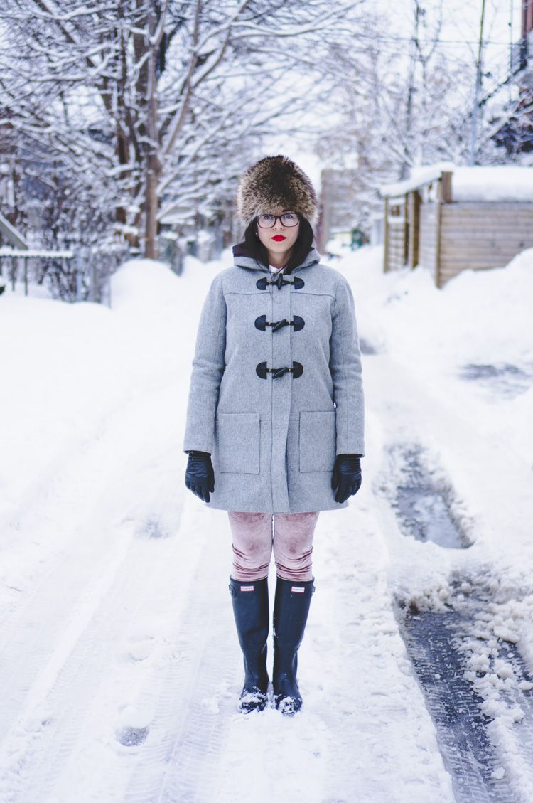 Fur Trim Fitted Duffle Coat | Fashion, Duffle coat, Clothes