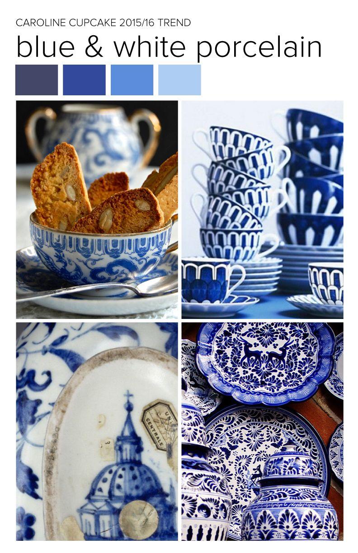 #CarolineCupcake trend inspiration. Blue and White ...