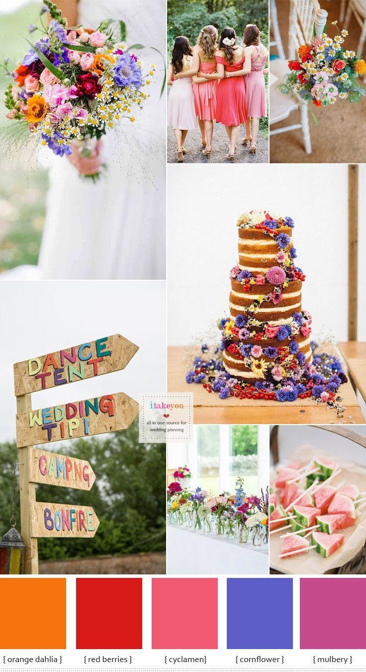 Summer wedding flowers in season + Bold & Bright Summer Wedding ...