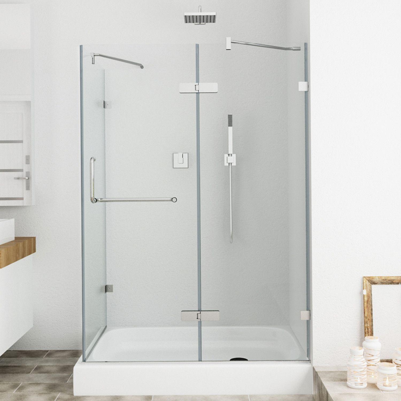 Shower 38 31 X 73 Rectangle Pivot Shower Enclosure With Base