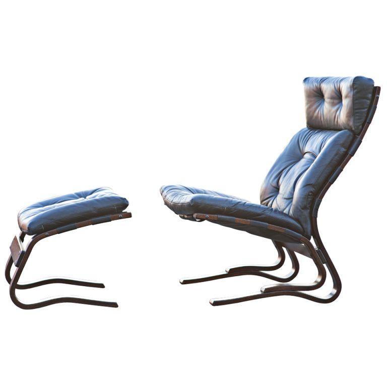 Merveilleux Westnofa Scandinavian Rosewood Lounge Chair U0026 Ottoman | 1stdibs.com