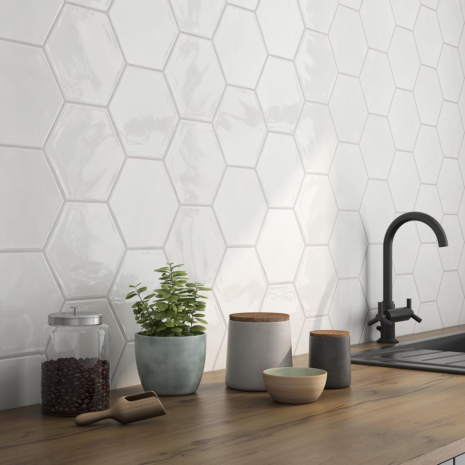 Vintage Kitchen Decor Themed Kitchen Decor Sets Kitchen Decor At Walmart Pig Kitchen Decor Apa In 2020 Hexagon Tile Kitchen Kitchen Tiles Backsplash Hexagon Tiles