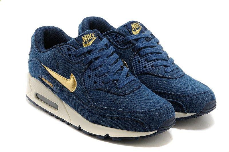 35419cfc3f2e Nike Air Max 90 Denim Dark Blue Gold