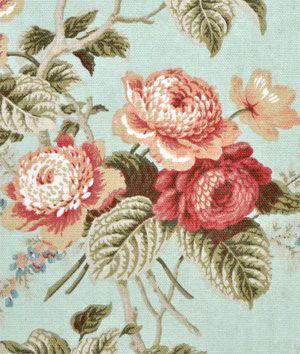 Waverly Emma S Garden Mist Fabric Floral Drapery Fabric Floral Curtains Floral Drapery