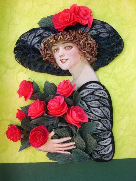 Quilling Art Female Characters In The Wonderful Paper Art Crafts