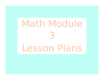Don't waste your precious time on lesson planning. Here is an editable and detailed set of Module 3 from the 2013 edition of Engage NY/Eureka Math. There is no fancy clip art so that you can make it your own!  It includes objectives, CCSS, procedures, and materials.