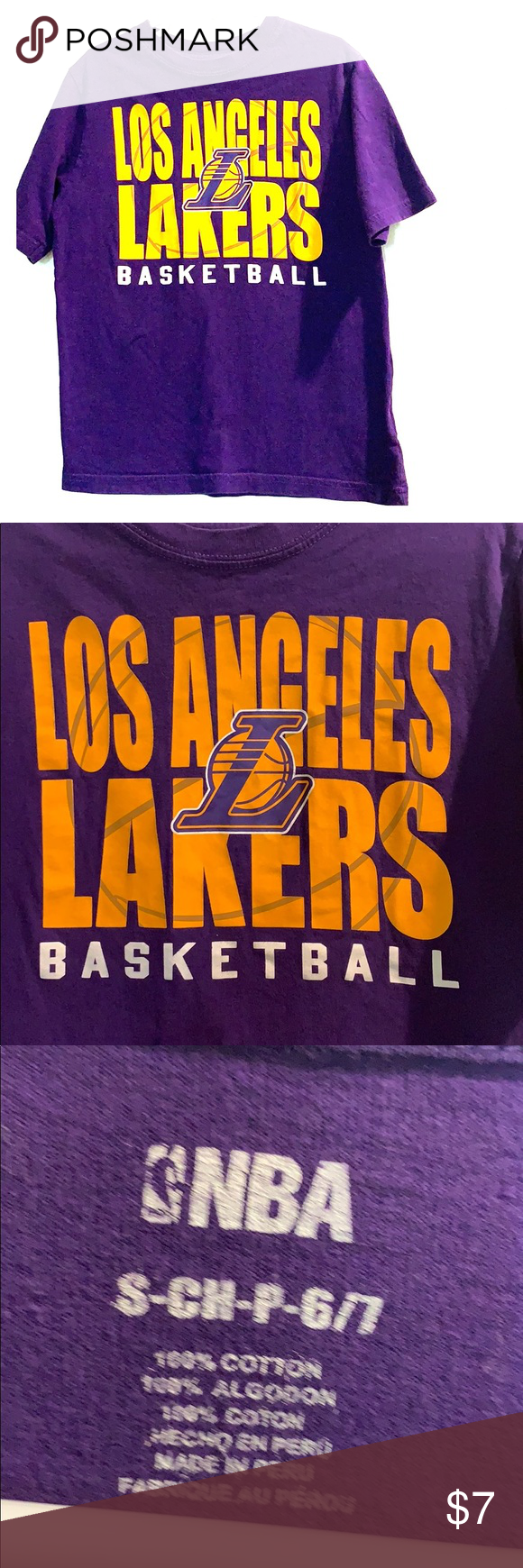 Boys Los Angeles Lakers Basketball T Shirt Lakers T Shirt Los Angeles Lakers Basketball Los Angeles Lakers