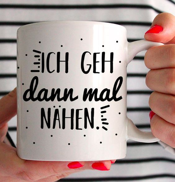 tasse f r n hfans mit spruch ich geh dann mal n hen bedruckte tasse via. Black Bedroom Furniture Sets. Home Design Ideas
