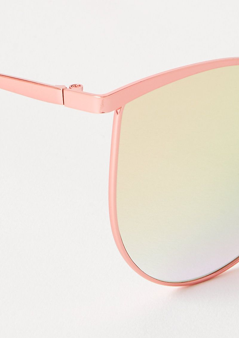 Photo of Rose Gold Mirrored Oversized Cat Eye Sunglasses