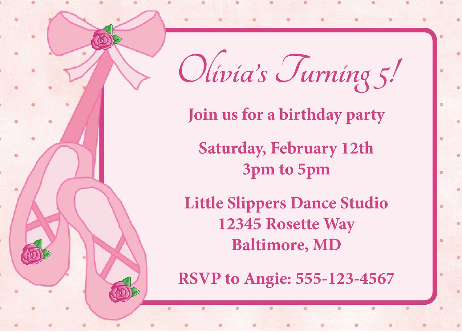 Ballet Birthday Party Invitation Wording | Places to Visit ...