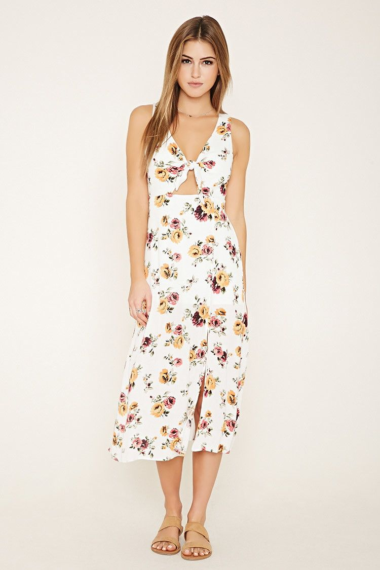 408acca1763 A textured woven sleeveless midi dress featuring an allover floral print