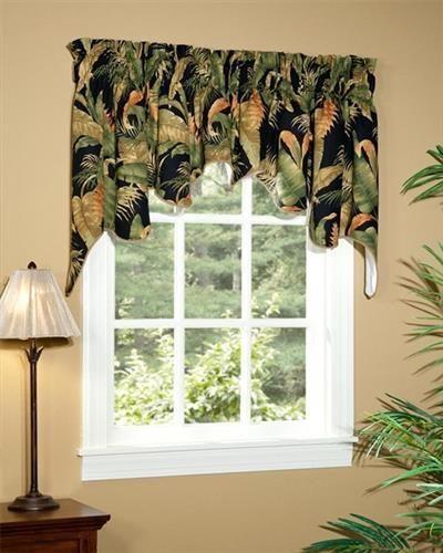 La Selva Black Empress Swag Valance Valance Kitchen Window Treatments Thomasville