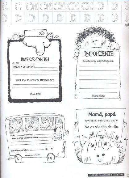 Notas importantes para enviar a los padres del colegio.