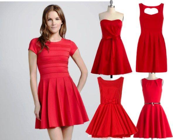 Conosciuto Come abbinare un vestito rosso | moda | Pinterest | Vestito rosso  VK45