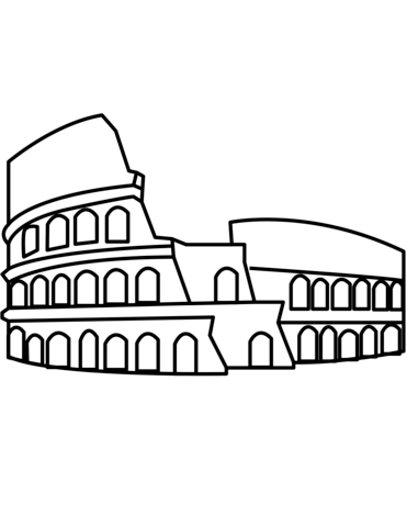 Colosseum coloring page from Italy category. Select from 24652 ...