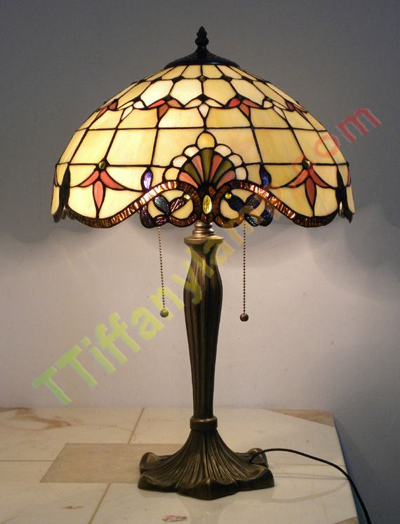 Amber Stained Glass Table Lamp G1609003   Tiffany Table Lamps   Tiffany  Lamps
