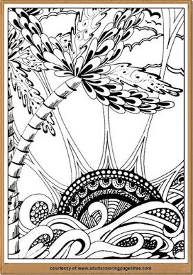 Download Coloring Pages Nature Scenes For Adults To Assuage And