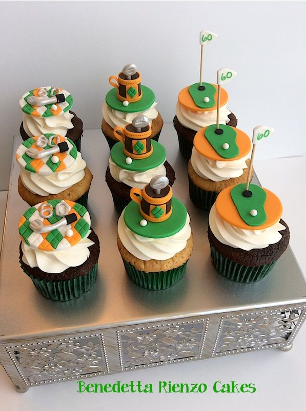 Golf Cupcakes Golf Cupcake Toppers Inspired By The