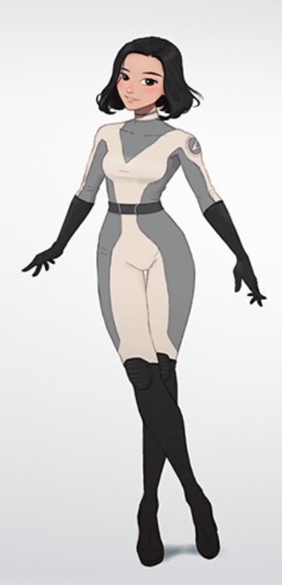 Space Girl In Grey White Spacesuit In 2020 Character Design