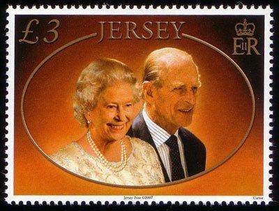 Stamp Qeii Wedding Anniversary (Jersey) (Diamond Wedding